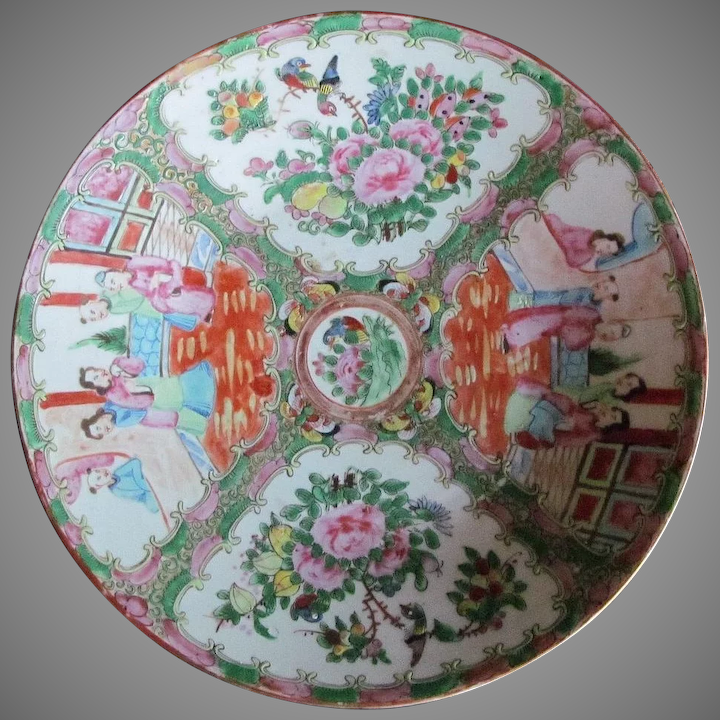 what makes a rose medallion chinese plate worth money