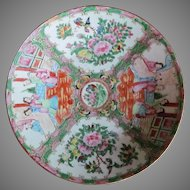 "AUTHENTIC 12"" 1800's Chinese Rose Medallion Charger Bowl"
