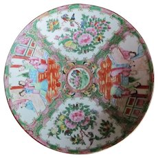 "12""  BOWL 1800's Rose Medallion Chinese Charger Bowl  GORGEOUS"