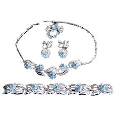 C.1950 Four Pieces CORO Bridal Set Necklace Set Signed STUNNING Must See