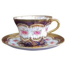 Paragon Cup and Saucer c.1921  GORGEOUS  Hand Painted England  Pattern 2204