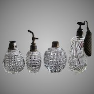 GROUP-FOUR Perfume Atomizer Scent Bottle Cologne Victorian Cut Glass Crystal