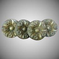 "LARGE 5""  c.1810-1830 Brass Curtain Tie Backs"