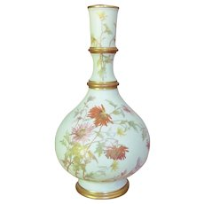 "c.1890 Royal Worcester Vase  9"" Blush Ivory"