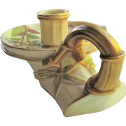 RARE Royal Worcester Blush Ivory Chamber Candle Holder c.1888