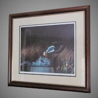 "D. Nicholson Miller Lithograph Signed Numbered Framed Waterfowl  27"" x 30""  SPLASH 1"