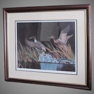 "D. Nicholson Miller Lithograph Signed Numbered Framed Waterfowl 27"" x 30"" SPLASH II"