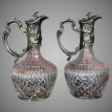 Anglo Irish decanter Cut Glass  c.1900-1910  MATCHING PAIR England