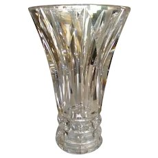 """SIGNED 1950's St. Louis Vase Crystal Cut Glass 3 lbs.7""""x 5"""""""
