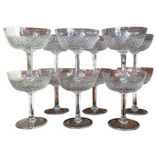 PARE PATTERN Set-12 St. Louis Crystal Champagne Sherbet Signed