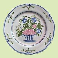 "Keraluc QUIMPER Plate Vintage  10"" France"