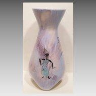 Marc Bellaire 1950s Balinese Dancer Vase California Pottery