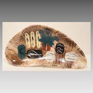 Marc Bellaire 1950s Friendly Island Boomerang Tray California Pottery