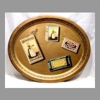 Baker Chocolate Large Advertising Trompe l'oeil Tray