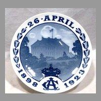 1923 Bing & Grondahl Royal Anniversary Commemorative Plate CM59