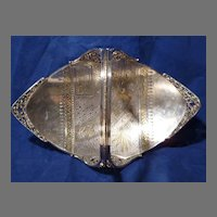 1880s Aesthetic Movement Silverplate Basket /  Centerpiece