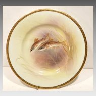 Exceptional Doulton H/P Trout Plate by J. Price