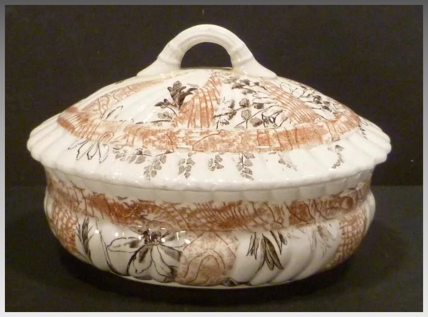 1886 Pb Amp S Oriental Ivory Miniature Tureen Collectors Row