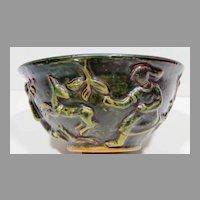 L Hjorth Denmark Art Deco Studio Pottery Bowl