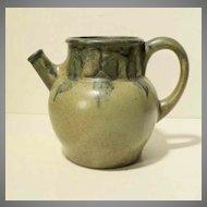 Denbac Chevrette aux Coqs French Art Pottery Pitcher