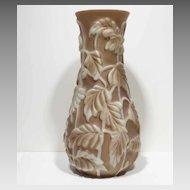 Huge Art Deco Phoenix Art Glass Philodendron Vase