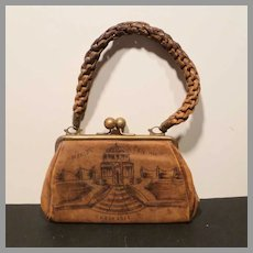 1904 St Louis World's Fair Leather Purse