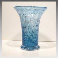 Mid Century Scandinavian Art Glass Vass