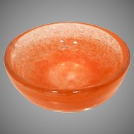 Midcentury Swedish Ekanas Art Glass Bowl by J O Lake