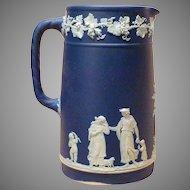 Circa 1900 Wedgwood England Jasperware Tall Pitcher