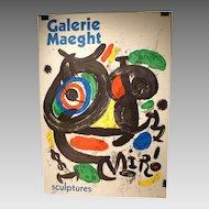Joan Miro Galerie Maeght Poster Original 1970 Lithograph