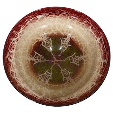 "Huge 13.5"" WMF Ikora Glass Centerpiece Bowl"