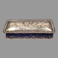 1902 Birmingham Sterling Silver Box with Cherubs