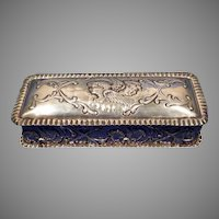1902 Birmingham Sterling Silver Box with Cherubs