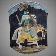 "1962 Tilgman's Keramik Plaque ""Knight on Horseback"" Marian Zawadski"