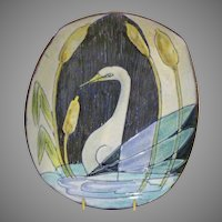 1957 Tilgman's Keramik Bowl w/ Swan Decoration