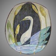 1957 Tilgman's Keramik Bowl w/ Swan Decoration