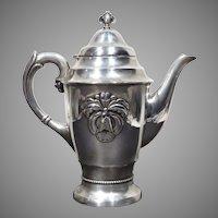 Danish Art Deco Gero Georg Nilsson Silver Plate Orchid Coffee Pot