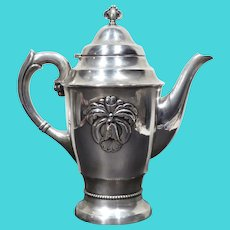 Danish Art Deco Gero Georg Nilsson Silver Plate Orchid Coffee Pot