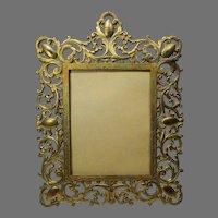 Cast Iron Ornate Frame Marked AF