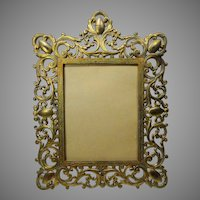 Cast Iron Ornate Frame Marked AF