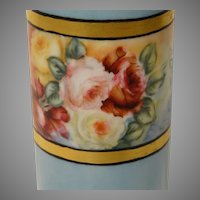 1909 Willets American Belleek Painted Vase with Roses