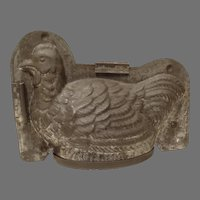 Large Antique Tin Chocolate Mold Hen or Chicken