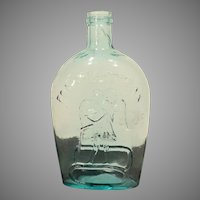 "Early Historical American Glass Quart Flask ""For Pikes Peak"" / Eagle"