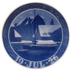 1926 Royal Copenhagen Christmas Plate