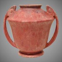 Large Roseville Carnelian II Handled Vase 334-8