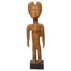 Pre 1940 African Carved Wood Figure Ashanti Tribe