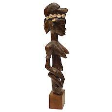 Vintage Senufu African Carved Wood Staff Figure