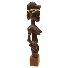Vintage Senufu African Carved Wood Staff Figure