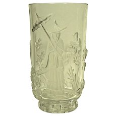 Verlys Art Deco Mandarin Glass Vase