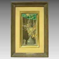 c1950 Trompe L'Oeil Still Life Painting by Walter Benoldi